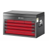 Glory Red & Black 6 Drawer Top Chest