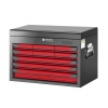 Glory Red & Black 9 Drawer Top Chest