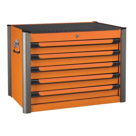 Practical Orange 5-drawer Tool Box Black