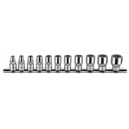 "11pc 1/4"" 6pt.flank Socket Set (sae)"