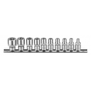 "10pc 1/4"" Star Socket Set"