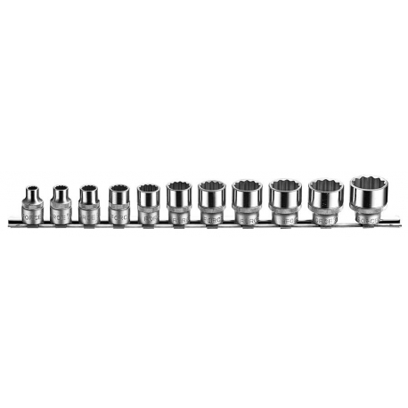 "11pc 3/8"" 6pt. Flank Socket Set"