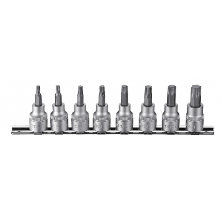 "8pc 3/8""dr. Star Tamperproof Socket Bit Set"