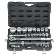"24pc 3/4"" 6pt. Flank Socket Set"