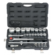 "24pc 3/4"" 6pt. Flank Socket Set (72th Ratchet)"